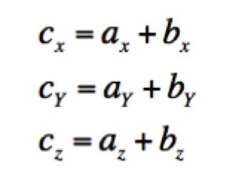 Subtracting vectors in different directions